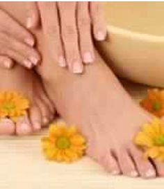 Step Four: HANDS & FEET ~ Nutra Nail Cuticle cream or Vaseline rubbed into nails & hands. Exfoliate heels >  Apply Heeltastic under socks.