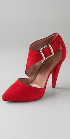 .dramatic red shoes