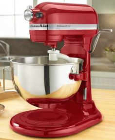 KitchenAid Professional 5 Plus Series 5 qt. Stand Mixer - Empire Red - Mix it up in the kitchen with a little (a lot, really) help from the KitchenAid Professional 5 Plus Series 5 qt. Kitchen Stand Mixers, Kitchen Aid Mixer, Kitchen Aide, Bakery Kitchen, Kitchen Hacks, Kitchen Gadgets, Mixer Accessories, Kitchen Accessories, Red Kitchen