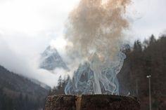 Schwedenfeuer auf der Seeterrasse, Seehaus am Riessersee, Garmisch - Winter wedding reception