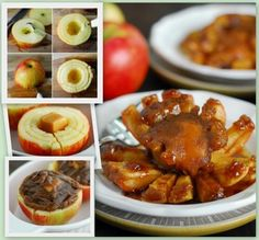 Baked Blooming Apple - I hear you can do the same prep with an onoin :) So EASY!