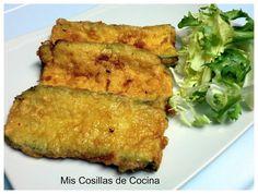 Libritos de Calabacin y queso Queso, Salad Recipes, Zucchini, Vegetarian Recipes, Food And Drink, Health Fitness, Gluten, Vegan, Dishes