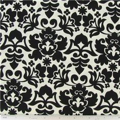 "U & Me Damask Fabric is 44"" - 45"" wide and 100% cotton.    	CARE INSTRUCTIONS - Machine Wash, Cold; Tumble Dry; Do Not Bleach.    	Available in 1-yard increments. Average bolt size is approximately 9 yards. Price displayed is for 1-yard. Enter the total number of yards you want to order."
