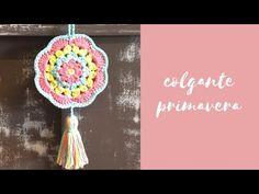 Colgante primavera en crochet - YouTube Crochet Gifts, Crochet Baby, Knit Crochet, Crochet Hair Accessories, Crochet Hair Styles, Crochet Triangle Pattern, Crochet Patterns, Crochet Keychain, Crochet Earrings