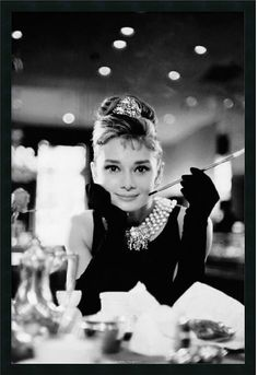 "0-028382>25x37"" Audrey Hepburn-Breakfast at Tiffanys Framed Print"