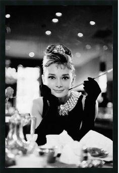 Audrey Hepburn-Breakfast at Tiffanys Framed Print