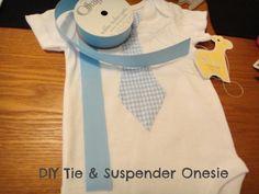 DIY Baby Tie and Suspender Onesie