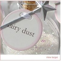 Dip the wand into the magic dust, press to the cheek and voila, she'll have the sparkling imprint of a wishing star.