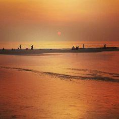 Sunset captured at Varca beach goa