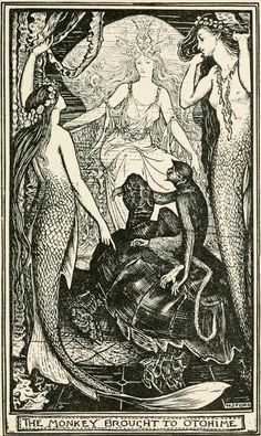 The Violet Fairy BookIllustrations by Henry Justice FordThe monkey brought to Otohime.