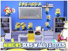 Minions goes Walltattoos | akisima sims blog