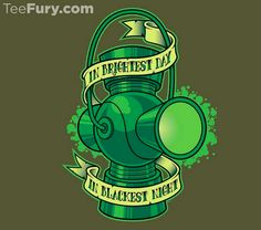 In Brightest Day T-Shirt $11 Green Lantern tee at TeeFury today only!