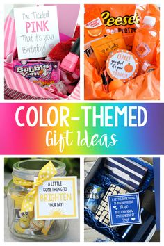 Fun Color-Themed Gifts & Gift Basket Ideas Color Themed Gift Basket Ideas-Whether you need a birthday gift, a thank you gift, or just want to Cute Birthday Gift, Birthday Gifts For Best Friend, Best Friend Gifts, Best Gifts, 21st Birthday, Best Thank You Gifts, Creative Birthday Gifts, Birthday Gifts For Boys, Girl Birthday