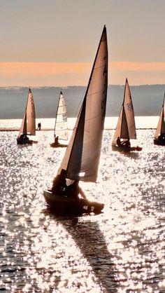 Sailing ships, Ships, Transport, Sea, Landscape.