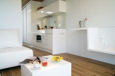 Salon z kuchnia Rubiloft 24m2 Kitchen Island, Home Decor, Living Room, Island Kitchen, Decoration Home, Room Decor, Interior Decorating