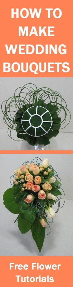 How to Make Wedding Bouquets - Free Flower Tutorials  Learn how to make bridal bouquets, wedding corsages, groom boutonnieres, church decorations and reception centerpieces.  Buy wholesale flowers by single bunches.