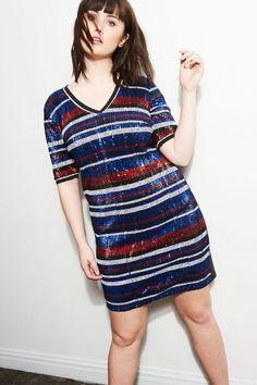 Studio Sporty Sequin Dress | French Twist Collection | Women's Plus Size Fashion | ELOQUII