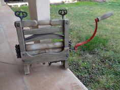 Antique Vintage Wood Clothes Washing Wringer by SecondWindShop, $75.00