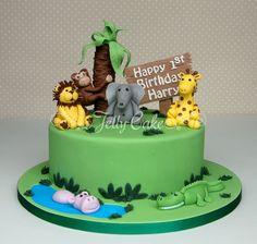 jungle birthday cake - Google Search