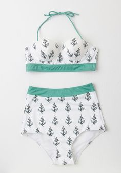 efe9a1e0782eb Anchor Values Swimsuit Top. Wherever you float in life, the nautical hook  print of