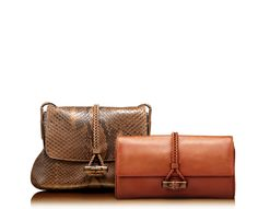 hip bamboo leather clutch