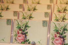 50  Wedding Place Cards  Vintage Paris Post by GreenAcresCottage, $30.00