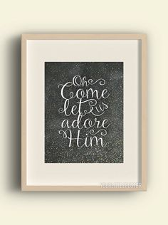 Christian Christmas decor  Oh come let us by YourLittlePoster