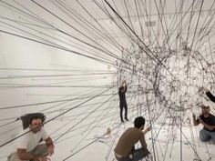 Miami Art Museum Installation of Large-Scale Work by Tomás Saraceno - YouTube