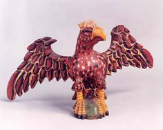 Spreadwing Eagle, Carlisle, PA, polychrome pine, circa 1890