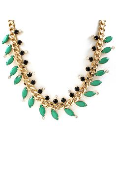 Marquise Misha Necklace in Paris Green and Jet