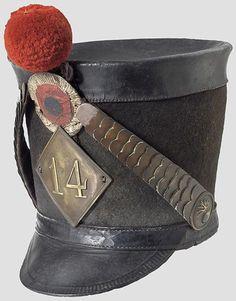 A Model 1810 Shako For Enlisted Men. 14th regiment of the line.