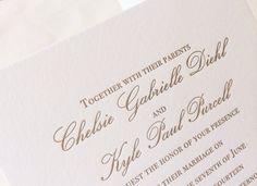 Formal Letterpress Wedding Invitation Suite