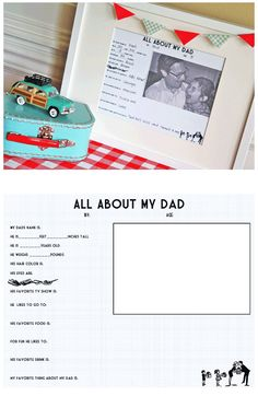 All About My Dad and Grandpa Free Printable