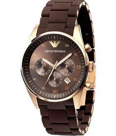 Armani Rose gold brown emporio armani watch for men. Emporio Armani, Giorgio Armani, Armani Men, Armani Black, Gents Watches, Sport Watches, Armani Rose Gold Watch, Armani Watches For Men, Luxury Watches