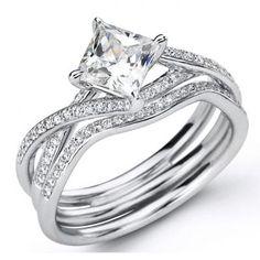 Engagement Ring Set by Simon G Bridal from http://www.springersjewelers.com/