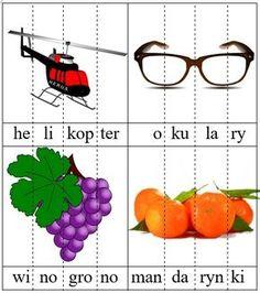 Ilustracje czterosylabowe Learn Polish, Polish Language, Speech And Language, Asd, Montessori, Classroom, Teaching, Education, School
