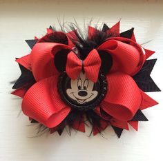 Items similar to Red polka dot Minnie bow, ears, on Etsy Disney Bows, Disney Diy, Ribbon Hair Bows, Diy Hair Bows, Minnie Bow, Minnie Mouse, Boutique Bow Tutorial, Christmas Hair Bows, Pink Christmas