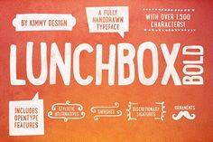 LUNCHBOX Bold   Webfonts Fonts Lunchbox BOLD is a uniquely handdrawn typeface that gives infinite customizable options and a fully by Kimmy Design