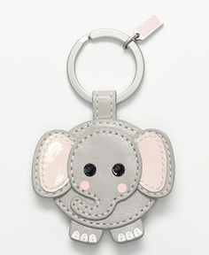 aw :) Lombardi Elephant key chain at Coach. Leather Accessories, Leather Jewelry, Leather Craft, Leather Bookmark, Leather Keychain, Elephant Keychain, Cute Keychain, Leather Projects, Small Leather Goods