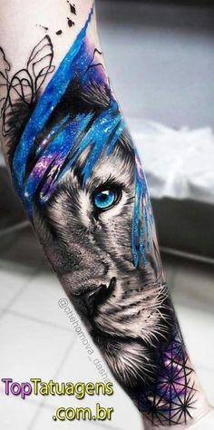 50 eye-catching lion tattoos make you fancy ink - lion - # eye-catching . - 50 eye-catching lion tattoos make you want to ink – lion – # striking … – tattoos – # - Wolf Tattoos, Animal Tattoos, Forearm Tattoos, Body Art Tattoos, Leo Lion Tattoos, Tattoos Masculinas, Temporary Tattoos, Trendy Tattoos, Popular Tattoos