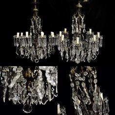 Pair of antique Italian chandeliers