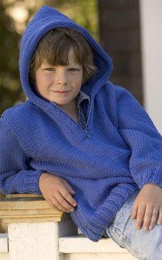 S&B Pattern: Kids' Hoodie - Complimentary Knitting Pattern Kids Knitting Patterns, Knitting For Kids, Free Knitting, Baby Knitting, Crochet For Boys, Knit Or Crochet, Baby Sweaters, Pulls, Barn
