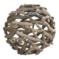 Easy way to make a ball from sticks or driftwood. You could even make it into a hanging lamp!
