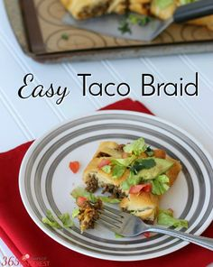 Spice up taco night in your house with an Easy Taco Braid! Stuffed full of delicious taco meat and creamy, melted Sargento® cheese, it's a great twist on a classic. [ad]