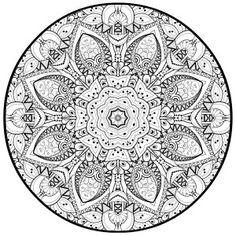 craft haven mandala coloring page