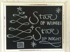 Christmas, my first chalk board