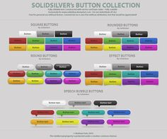 Free button collection by SolidSilver.deviantart.com on @deviantART