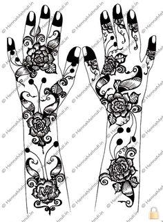 Rose arabic design