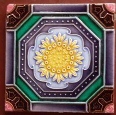 vintage japanese made ... artnouveau  tile #ArtNouveau