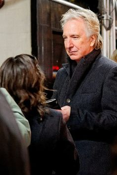 "Alan Rickman signing autographs after a performance of ""Seminar."" He played Leonard in ""Seminar"" from November 20, 2011 to May 31, 2012."